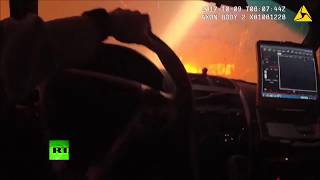 Ravaging Fires: N. California officer saving people from fiery trap (bodycam footage)
