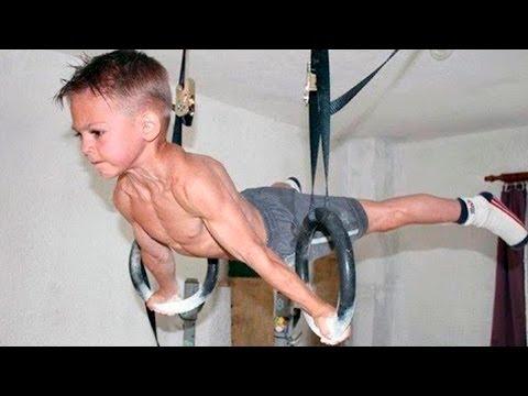НЕВЕРОЯТНЫЕ Дети 💪🏻 Спортив� ая подборка 🤛🏻 Крутые Трюки 80 уров� я