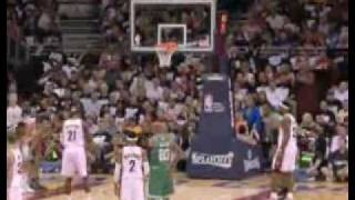 Danny Ainge Threw A Towel In The Air During Hickson's Free Throw  part 1 2010