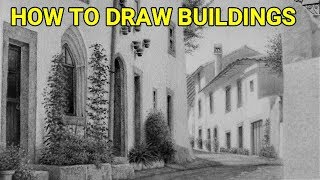 Learn How to Draw Realistic Buildings in Graphite, Perspective, Drawing Tutorials