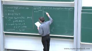 Lecture 12: The RSA Cryptosystem and Efficient Exponentiation by Christof Paar