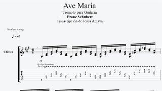 Ave Maria - Franz Schubert - Tablatura Trémolo Guitarra...
