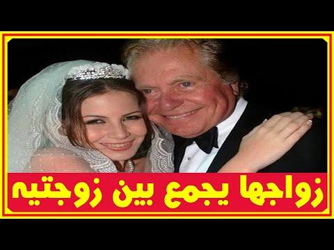 مفاجأة فرح منة بنت حسين فهمى يجمع بين زوجتيه ميرفت امين ولقاء سويدان