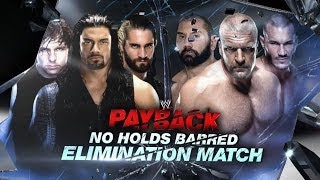 The Shield vs. Evolution - No Holds Barred Elimination Match: Tonight at WWE Payback