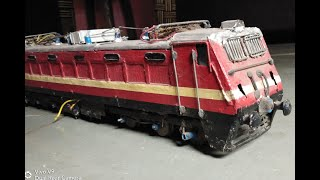 how to make electric locomotive wap 4 at home