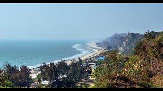 পাহাড় এবং সমুদ্র একই জায়গায় ( হিমছড়ি, কক্সবাজার ) Hill and sea beach at a same place