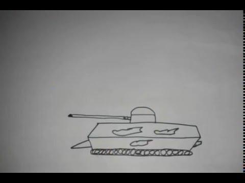 طريقة رسم دبابة من خلال القلم الرصاص