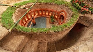 Build Most Awesome Underground Swimming Pool and Underground House