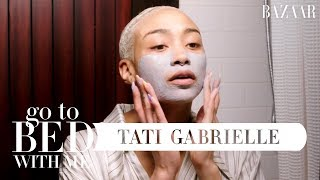 Actress Tati Gabrielle's Natural Nighttime Skincare Routine | Go To Bed With Me | Harper's BAZAAR