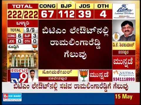 Xxx Mp4 Karnataka Election 2018 Results Live Ramalinga Reddy Wins In BTM Layout 3gp Sex