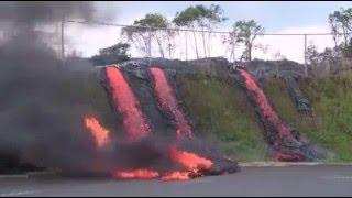 Lahar panas keluar dari perut bumi hingga ke daratan