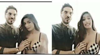 Poonam pandey boob pressed live