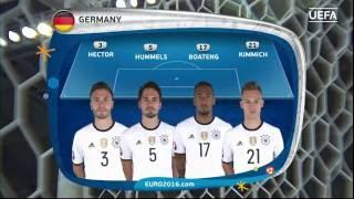 Germany line-up v Slovakia: UEFA EURO 2016