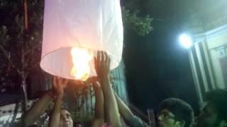 ফানুস উড়ানো (flying sky lantern)