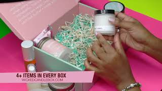 CANDLE SUBSCRIPTION + SPA BOX | MONTHLY CANDLE BOXES | WICKED FLAME