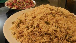 Lubia Polow Recipe With ( Mince Meat ) - Ramadan Special Rice Recipe - Persian Recipe -لوبیا پلو