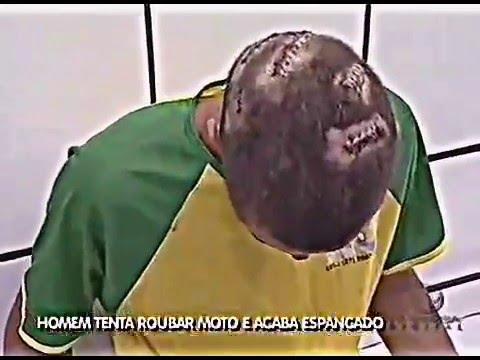 LADRÃO DE MOTO ACABA SE DANDO MAL