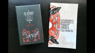 Unboxing, First Impressions, & Full Walkthrough of a Gift, The Sasuraibito Tarot