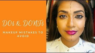 MAKEUP MISTAKES TO AVOID   Do's and Dont's   Vithya Hair and Makeup