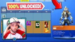 *NEW* SEASON 6 - TIER 100 SKIN (100% UNLOCKED) - Fortnite: Battle Royale!