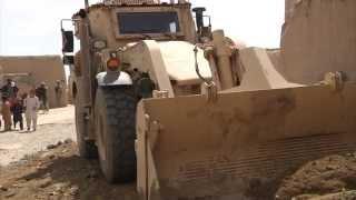 Afghan National Army helps 40th MAC repair a village road