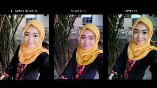 Camera Comparison - Huawei Nova 2i vs Vivo V7+ vs Oppo F5