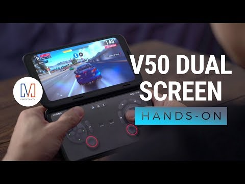 LG V50 ThinQ Dual Screen Unboxing and Hands on