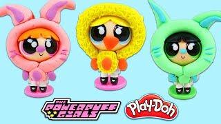 DIY Powerpuff Girls Play Doh Easter Themed Costumes!