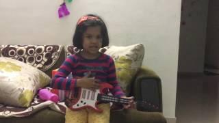 Aarya with her fav guitar