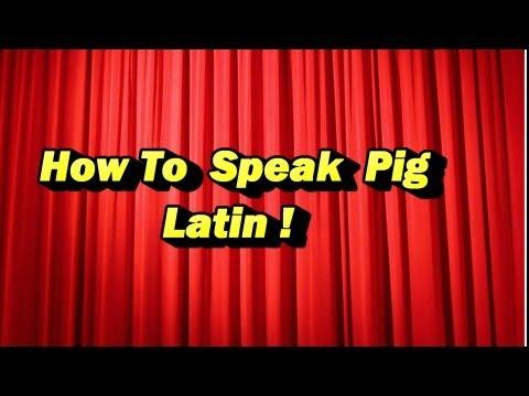 Sam Teaches You Pig Latin!