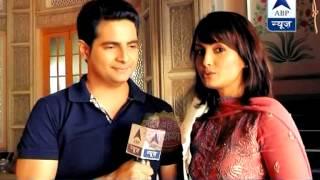 Nisha visits Karan on his set while shooting