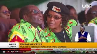 BREAKING NEWS:PRESIDENT MUGABE NEPHEW WHO IS IN UGANDA SAY GRACE MUGABE IS THE  CRISIS IN ZEMBAWE.