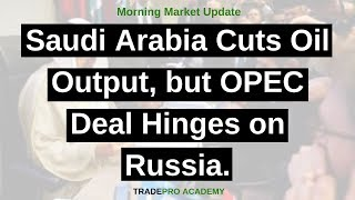 Saudi Arabia cuts oil output, but OPEC deal hinges on Russia.