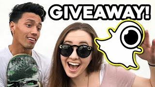 FIRST TIME ELECTRIC SKATEBOARDING! Free Snapchat Spectacles!!