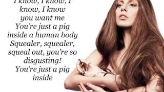 Lady Gaga - Swine (Lyrics)