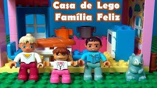 Casa de Lego Família Feliz - Tia Cris monta uma casa linda de três andares de Lego
