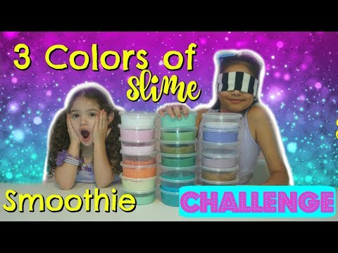 3 Colors of Slime Smoothie Challenge Mixing our slimes from the 3 Colors of Glue Slime Challenge