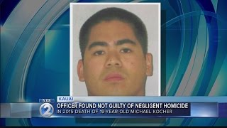 Kauai police officer acquitted of negligent homicide in pedestrian's death