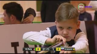 الشوط الأول من مباراة بطولة العالم للسنوكر بين الأفعانستاني محمد رئيس والإسنرالي أرتيم أستومين