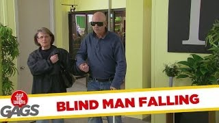 BLIND MAN FALLS DOWN ELEVATOR SHAFT PRANK!