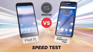 Google Pixel XL vs Samsung Galaxy S7 Edge - SPEED Test