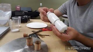 Making a Homemade Rocket Motor (KNO3 + Sugar)