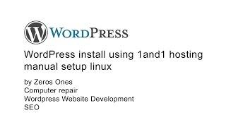 WordPress install 1and1 hosting
