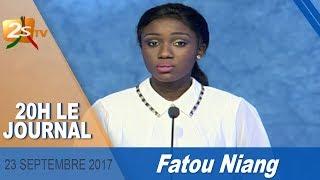 JOURNAL FRANÇAIS DU 23 SEPTEMBRE 2017 AVEC FATOU NIANG