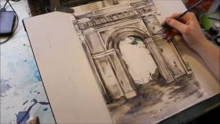 Derelict Archway - Heather Claughan (Speed Painting)
