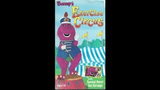 Barney's Exercise Circus 1999 VHS