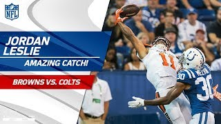 Jordan Leslie = Catch of the Year Candidate for One-Handed Grab! 💯 | Can't-Miss Play | NFL Wk 3
