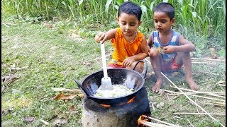 Cute Cooking Show - Buffalo Tongue Curry Cooking By 3 Years Old Angel Baby Chef - Sneyha