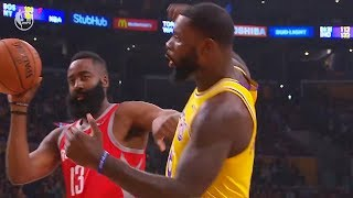 James Harden Shoves Lance Stephenson For Taunting Then Gets Technical Foul! Lakers vs Rockets