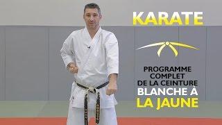 Karaté de la ceinture blanche à la ceinture jaune - Cours de karaté débutant